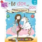 【中商海外直订】1-10 dot to dot Magical Unicorn coloring book Age 3