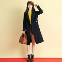 羊绒大衣女2018冬装新款韩版高端系带羊毛中长款宽松加厚毛呢外套