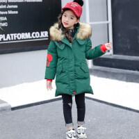 儿童棉衣2018新款冬季韩版棉服女孩中长款时髦外套