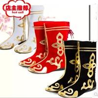 民族舞蹈蒙古舞表演出男女靴新疆靴藏族靴子美猴王儿童走秀打鼓鞋