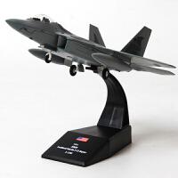 新款1:100F22飞机模型合金F-22隐身战斗机仿真成品事航模摆件品质定制 1:100 F22
