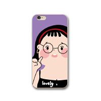 可爱卡通苹果7plus手机壳iPhone X保护套8plus硅胶软壳6s防摔情侣