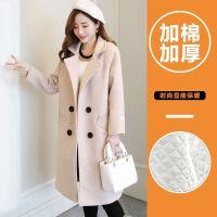 秋冬装毛呢外套女韩版宽松学生流行赫本风中长款长袖呢子大衣冬季 图片色(加棉加厚款)