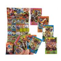 儿童玩具赛尔号玩具卡片奖励品奥特曼铠甲勇士小圆卡片纸卡方卡 小卡片系列