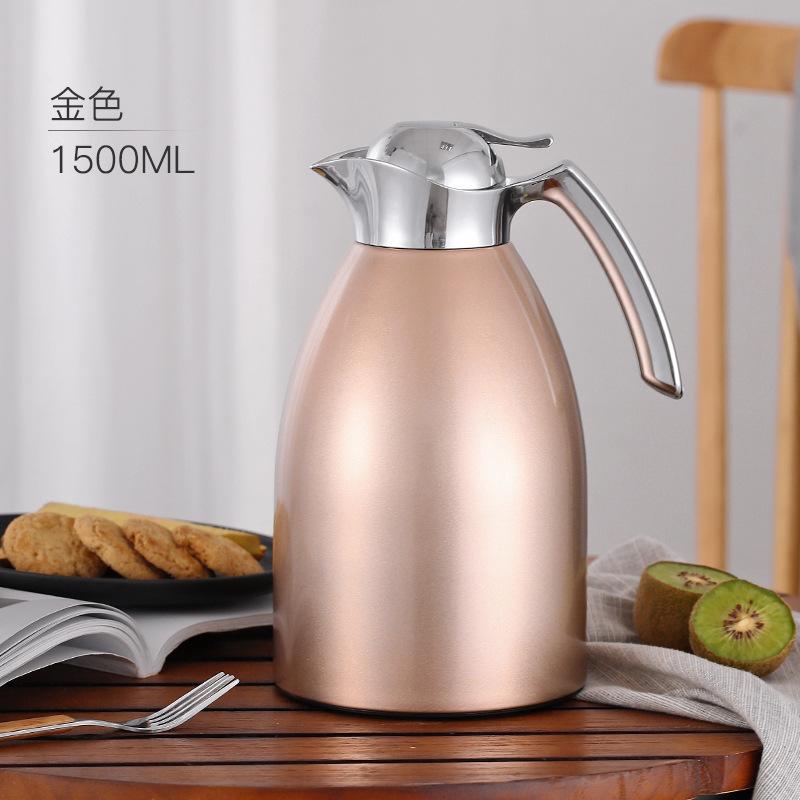304不锈钢大容量1.5L升玻璃内胆保温水壶家用装水杯小暖壶热水瓶