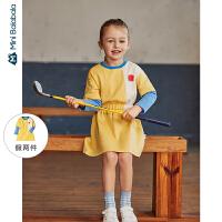 【周年庆 4折价:80】迷你巴拉巴拉女童连衣裙2020春装新款儿童宝宝超洋气童装公主裙