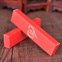 结婚用品喜烟盒婚礼个性创意包装纸盒红色两支装烟盒小巧礼盒批�l1 印金- 经典双喜 两支装(数量50个)