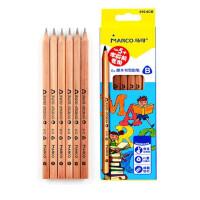 马可610铅笔2B/HB橡皮头铅笔 三角/六角杆 学生写字黑木 /原木铅笔绘图铅笔 多款可选