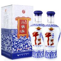 牛栏山二锅头 清香型白酒45度 蓝花瓷 500ml*2