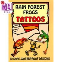 【中商海外直订】Rain Forest Frogs Tattoos