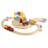 [当当自营]BRIO 货运卡车轨道套装 儿童益智拼插木制轨道小火车玩具 BR33208