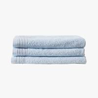 当当优品家纺浴巾 纯棉抗菌防臭毛巾吸水沙滩巾 60x120 浅蓝