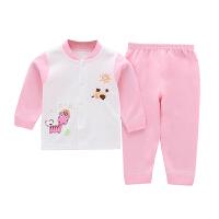 婴儿内衣套装春秋薄款男女儿童保暖两件套宝宝秋衣秋裤0岁1-2 DA03(粉色卡通马)长袖套装 66码(建议2-5个月)