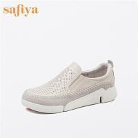 【满99减30】Safiya/索菲娅春季商场同款圆头套脚舒适单鞋女鞋SF71112042
