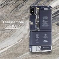 iphone xs手机贴纸苹果X创意彩膜xr全身贴XR背膜后膜iponeX改色包边后壳盖贴XS MA