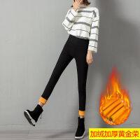 打底裤女秋冬季外穿黑色紧身加绒铅笔裤子学生小脚裤韩版社会显瘦