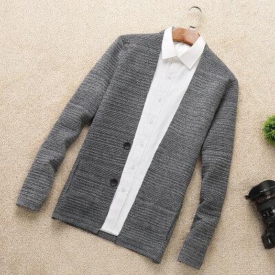 春秋季针织衫长袖男士开衫纯色修身外套韩版休闲男装潮流薄款毛衣 发货周期:一般在付款后2-90天左右发货,具体发货时间请以与客服协商的时间为准