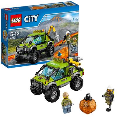 [当当自营]LEGO 乐高 City城市系列 火山探险车 积木拼插儿童益智玩具60121【当当自营】适合5-12岁,175pcs小颗粒积木