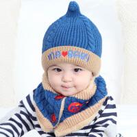 儿童帽子秋冬保暖毛线帽6-12个月婴儿绒款冬季
