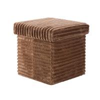 法兰绒收纳凳多功能储物凳可坐人收纳箱家用换鞋储物箱凳子 其他