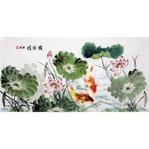 《有余图》梁健 广西美协会员 贵州美协会员R3748