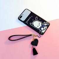 镜面iphone6/7/X可爱卡通手机壳苹果8plus全包玻璃6S保护套7p个性