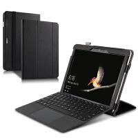 【】微软Surface Go保护套10.1英寸二合一平板笔记本电脑皮套头层牛皮支撑套可插 黑色【Surface Go