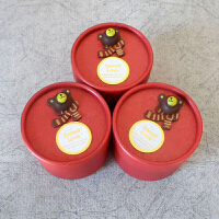 喜糖盒子 圆筒中国风个性创意糖果盒婚庆结婚用品喜糖袋(50只装)教师节礼物 红盒 小熊 卡片 (50只装)