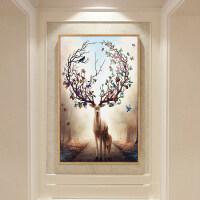 20200102232133893现代北欧式风格玄关装饰画客厅沙发背景墙画挂画壁画美式简约油画 40*60 优雅奶白框