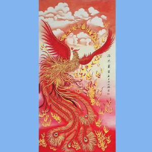 中国工艺美术学会会员,山东省美术家协会会员,中日书画交流学会会员胡记领(涅��重生)
