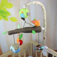 婴儿玩具挂在床上的 婴儿床铃 粉色音乐床铃 旋转摇铃 新生儿0-6个月装饰布艺玩具