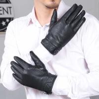 手套男士冬季保暖户外骑行加绒加厚防风防水骑车摩托车手套男 黑色 均码