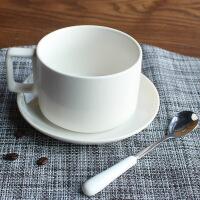 简约咖啡杯陶瓷马克杯套装带碟勺子北欧下午茶咖啡器具