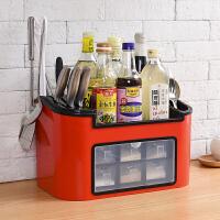 多功能厨房置物架调料瓶调味盒收纳架筷子储物架刀架调味品收纳盒