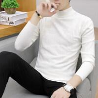 半高领毛衣男秋冬季韩版修身中领针织打底衫男士舒适百搭潮流线衣