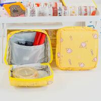 新款布艺糖果色姨妈巾大容量月事包加厚旅行便携小巧卫生棉收纳包