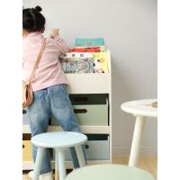 儿童绘本收纳柜ins北欧日系风格书柜玩具杂物收纳箱儿童软装 图片色