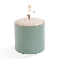 七子普洱茶罐陶瓷茶�~罐大�醒茶罐357/375克普洱�七�存茶罐