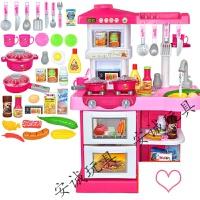 儿童过家家厨房套装煮饭做饭餐具女孩玩具厨具男购物车