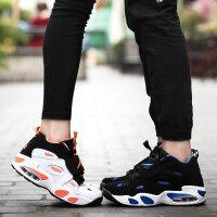 路屋 运动鞋男跑步鞋女四季韩版气垫鞋情侣鞋厚底板鞋增高鞋旅游鞋学生户外鞋