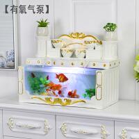 鱼缸客厅小型桌面创意欧式长方形玻璃懒人免换水生态金鱼缸水族箱