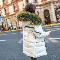 儿童棉服2018新款大毛领中长款韩版女宝宝过膝冬季外套