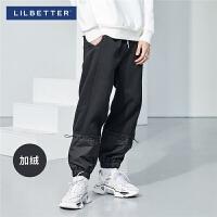 2.5折价:119;Lilbetter男士休闲裤冬季运动裤小脚卫裤加绒加厚长裤男小脚裤潮