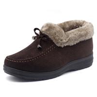 老北京布鞋女棉鞋冬季加绒保暖防滑妈妈鞋中老年人棉鞋平底奶奶鞋