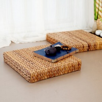 蒲团 藤编日式蒲团飘窗坐垫加厚禅垫草编打坐拜佛瑜伽地垫坐墩