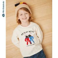 【每满299元减100元】迷你巴拉巴拉儿童上衣男童长袖T恤2019年秋季新款宝宝棉质体恤衫