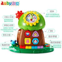 澳贝趣味小树早教益智周岁玩具1岁玩具珠算音乐琴键早教智慧树