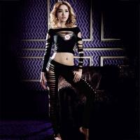 用品性感女用情趣内衣镂空紧身爆乳束身套装(不含T裤)11095 黑色