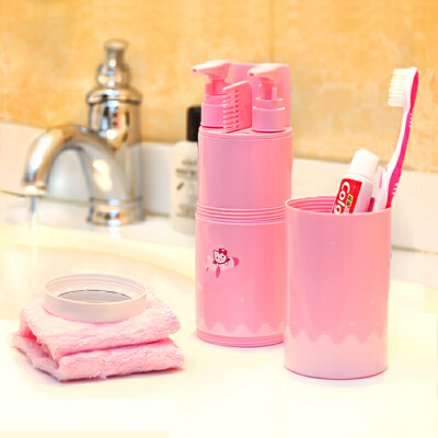 旅行套装便携洗漱杯洗漱包旅游出差用品牙刷牙膏毛巾洗发水收纳袋