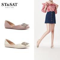 St&Sat/星期六低跟一脚蹬浅口单鞋方扣舒适女单鞋SS01111005
